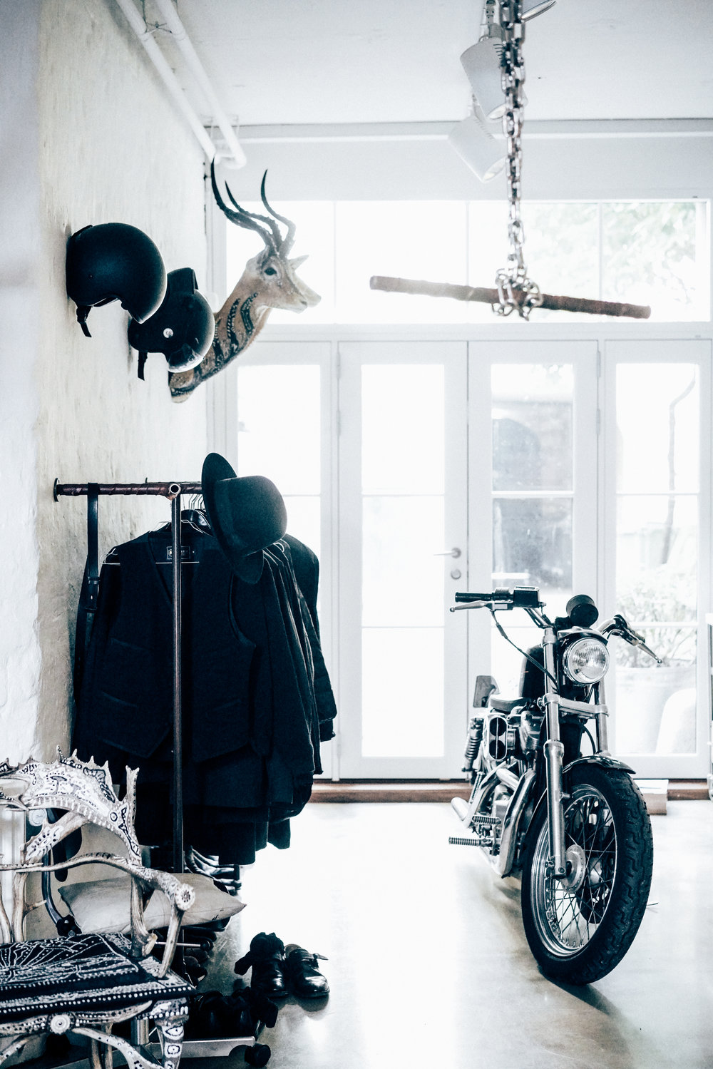 Morten Angelo's motorcycle