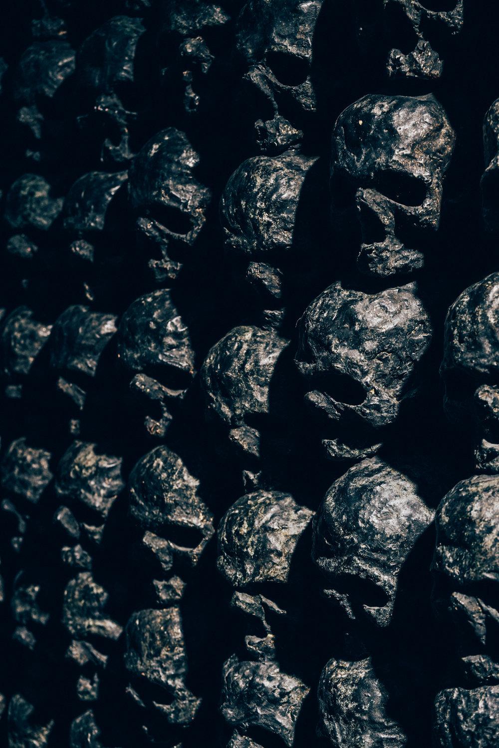 Morten Angelo's black skulls