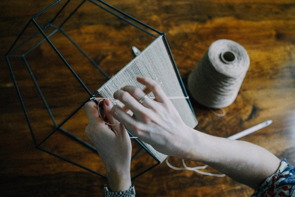 Alexandra Raben weaving