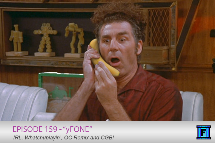 Summary - In yFone, we talk about cell phones, baby stuff, and home improvement, so pretty much the usual. How did we manage not to talk about dogs?! We also discuss what we've been watching/playing/reading/consuming and end it all with some community grab bag. Pick up the yFone, entertainment is calling!