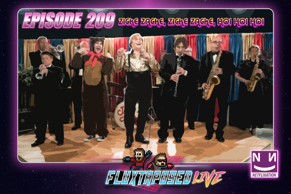 "Summary - Pull up a chair, this is Fluxtaposed, episode 209 recorded on April 24th, 2018. On the docket today -  IRL, Netflixation of ""The Polka King"", get caught up on Whatchuplayin' featuring A Quiet Place and Golf Story. Finally, we will close out the show with the community grab bag and that sweet, sweet, awkward finish. Thanks for listening, thanks for watching, and enjoy the show!"