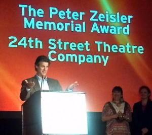 TCG Honors us w/ The Peter Zeisler Memorial Award in June