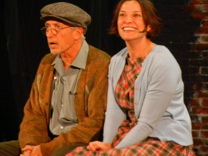 "Actors Mark Bramhall & Paige Lindsey White in ""Walking the Tightrope"""