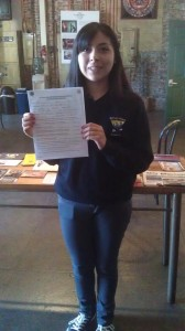 Vanessa, our first 24th Street Leadership Academy applicant.