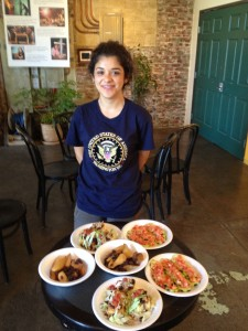 Maribel and her award-winning meal. This will be served throughout LAUSD all next school year!