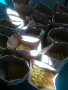 Popcorn & peanuts to celebrate the opening of our hit WALKING THE TIGHTROPE last year!
