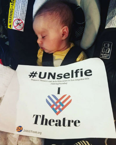 1:30 PM - Cutest #UNselfieever. Jennie, our Operations Manager returns from maternity leave, and 24th ST continues our culture of welcoming staff member's children into meetings. Sometimes the lobby doubles as a nursery!