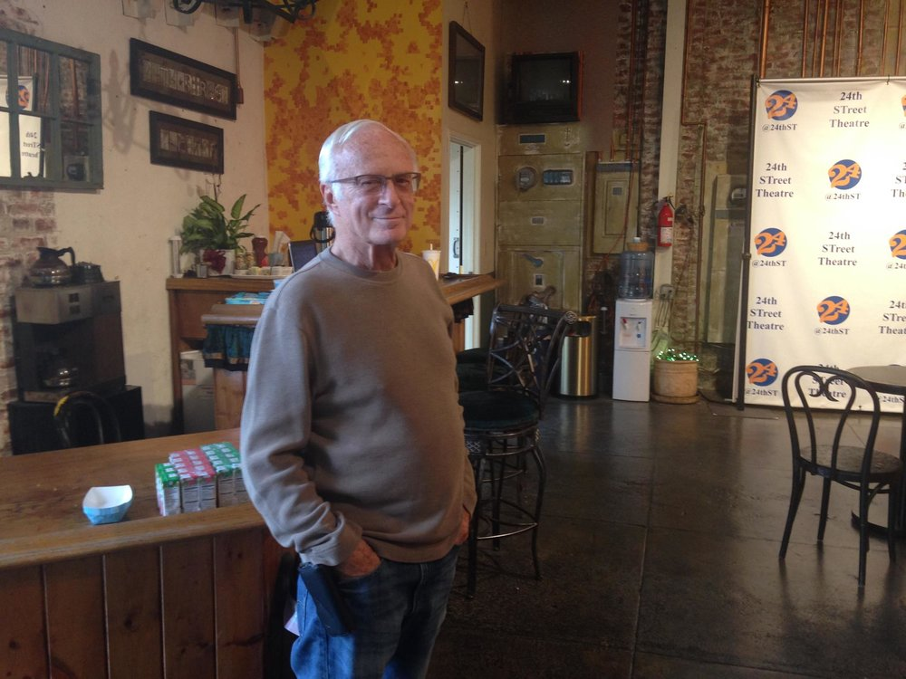 """3:30 PM - Master electrician, neighbor and advisory board member, Bob Scales, stopped by to say, """"hi"""". Read more about his legacy at 24th ST here."""