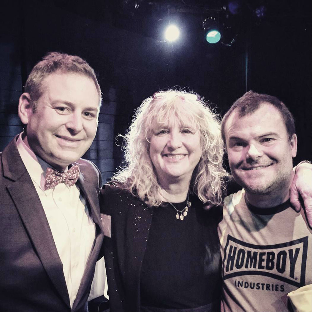 Nate with Artistic Director Debbie Devine and Jack Black