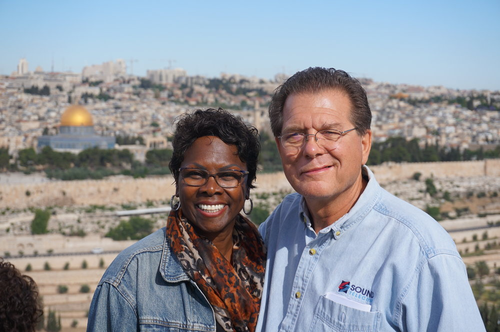 Mike and Cheryl on the Mount of Olives in Jerusalem, Israel