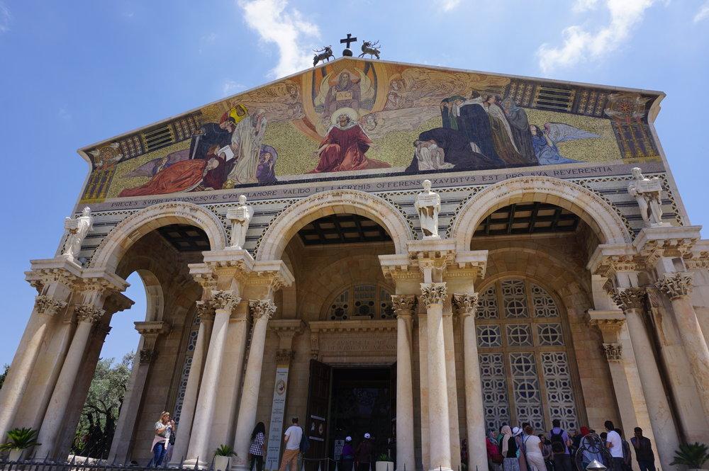 Church of All Nations Garden of Gethsemane Jerusalem Israel.JPG