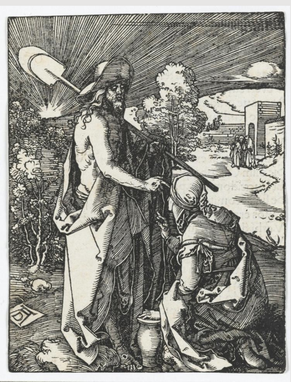 Noli me tangere (the Small Passion). Albrecht Dürer, 1510