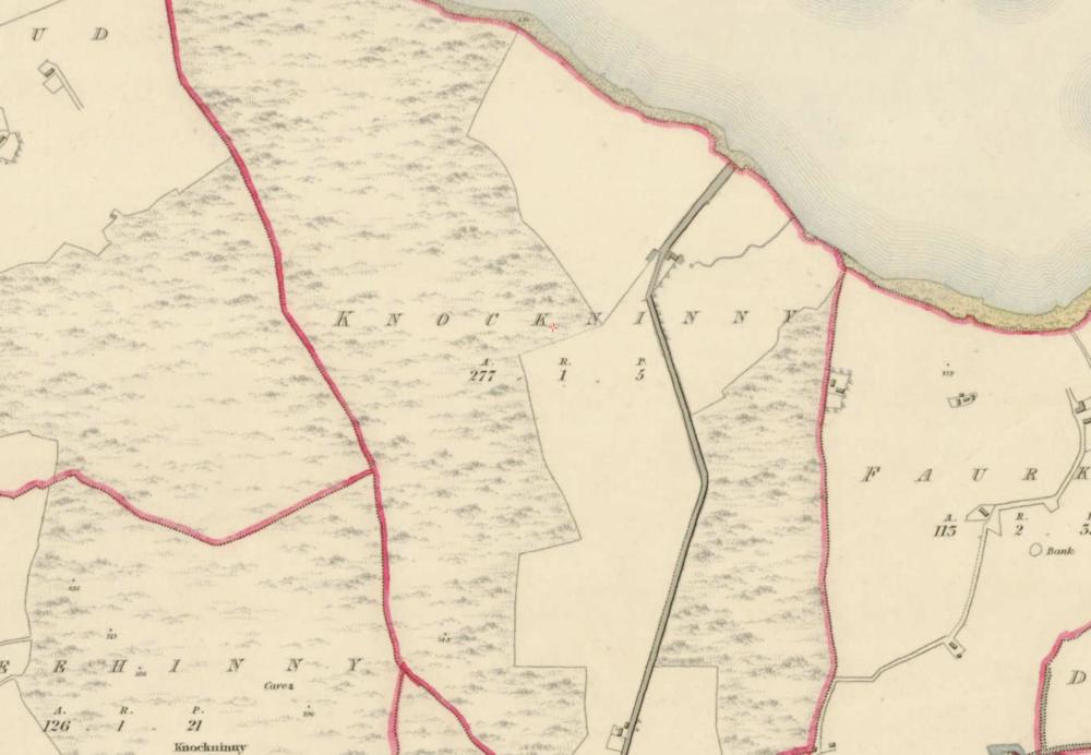 "Knockninny, 1:5000, Historic 6"" Map 1842. © Ordnance Survey Ireland, 2017"