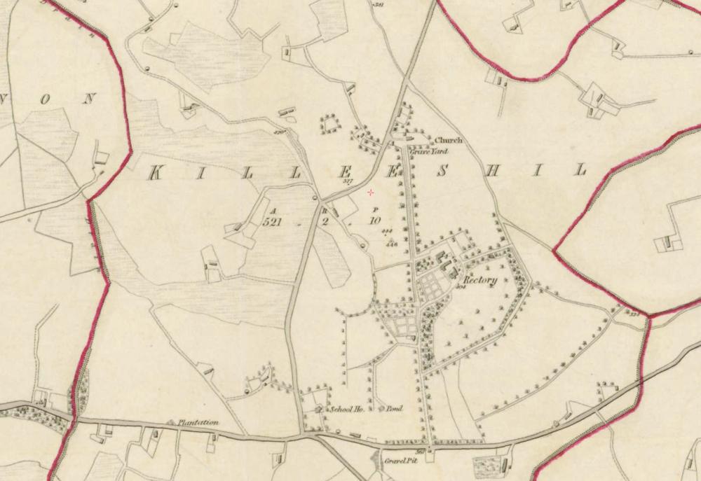 "Killeeshil, Co. Tyrone  , 1:5000, Historic 6"" Map 1842.  © Ordnance Survey Ireland, 2017"
