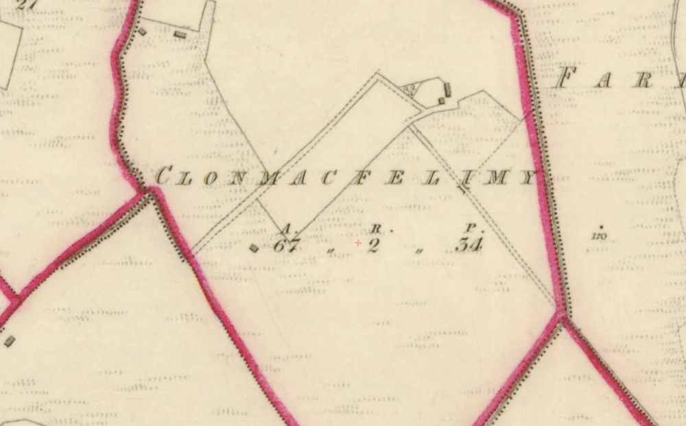 "Clonmacfelimy townland, Co. Fermanagh, 1:5000, Historic 6"" Map 1842  .  © Ordnance Survey Ireland, 2017"