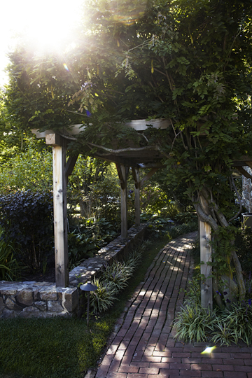 Pergola leading to the pool