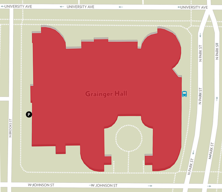 Grainger Hall - (click for interactive map)