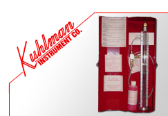 Kuhlman Instruments   Natural gas, one column, high and low pressure manometers and electronic pressure test/leak devices