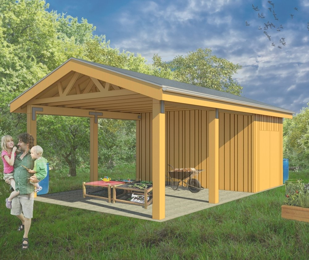 Help us raise funds to complete our North Farm education pavilion and tool shed in Spring 2019.