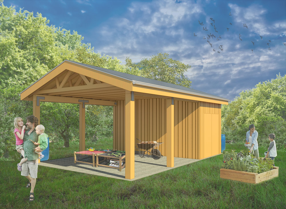 Seedleaf's proposed Educational Pavilion, slated to go up at the North Farm space in 2019.