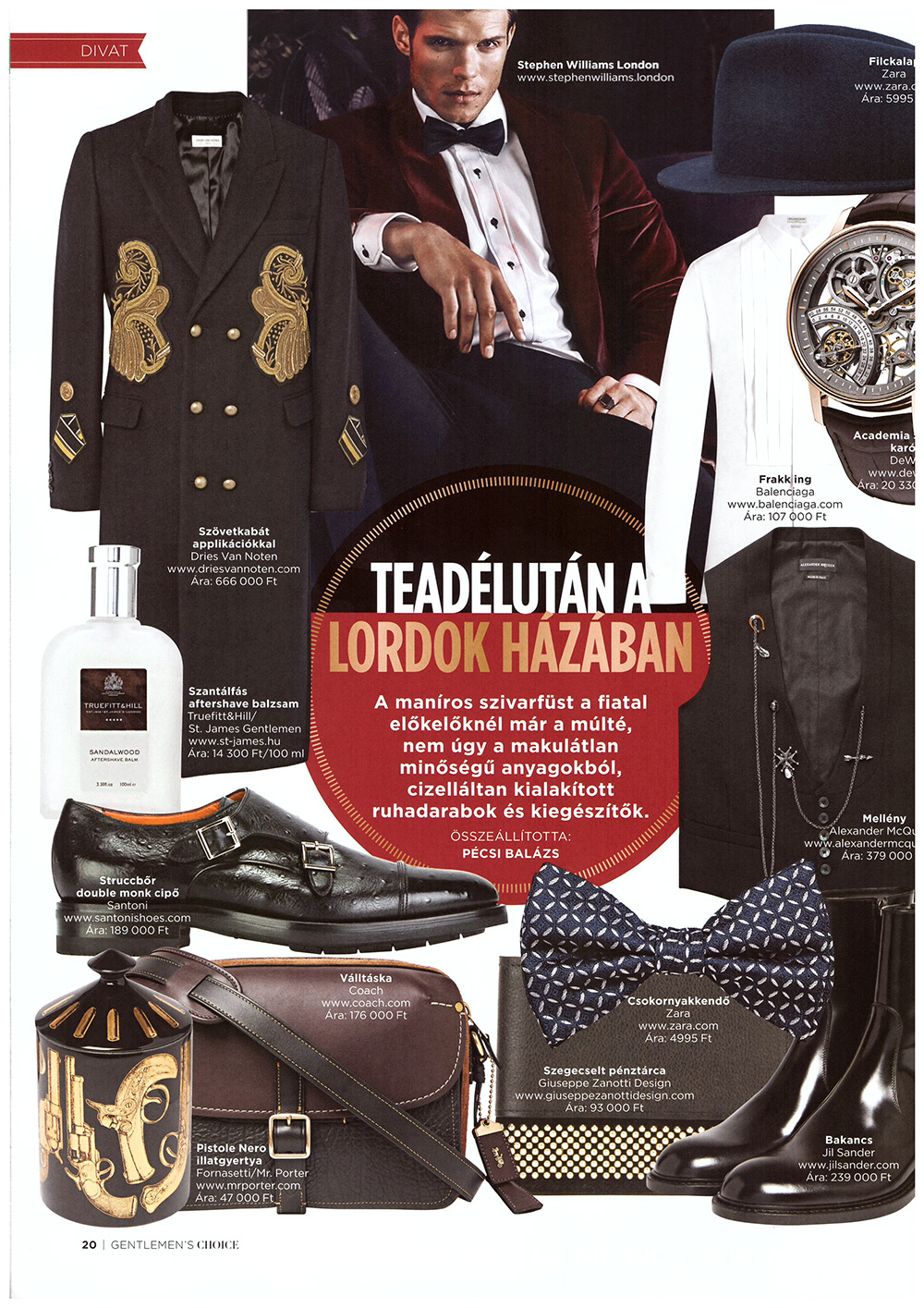 Stephen Williams London - Gentleman's Choice Magazine