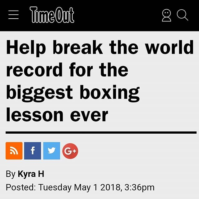 Thank you @timeoutlondon! Dust off your gloves and head down to Hackney Marshes on 20th May for the @virginsport World Record boxing lesson attempt! #dingding 🥊 . . . #virginsport #hackneyfestivaloffitness #hackneyhalf #boxing #fightklub #worldrecord #whatsonlondon #hackney #hackneymarshes #fitness #londonevents #hackneysfinest