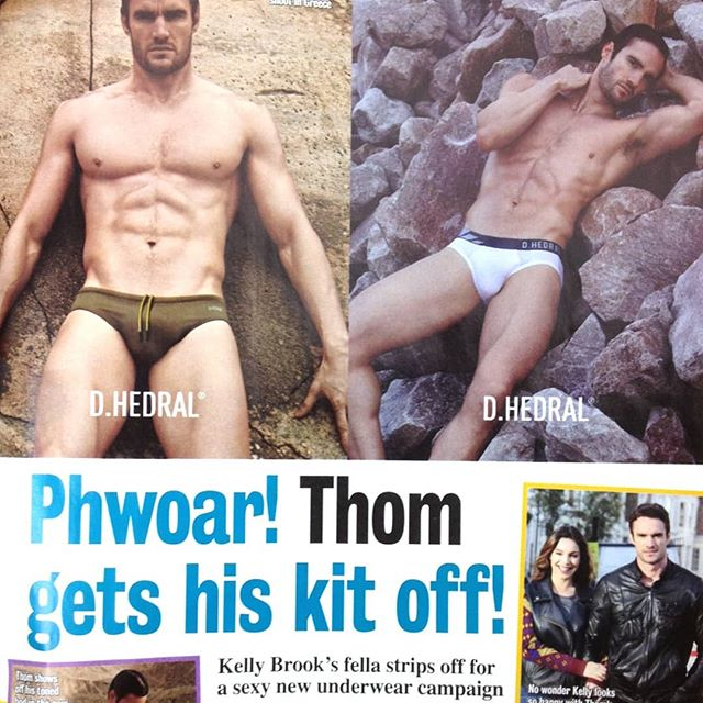 #tbt When the press went crazy for @te11 starring in the @dhedral underwear campaign! #columninches . . . #dhedral #thomevans #adcampaign #publicity #pr #presscoverage