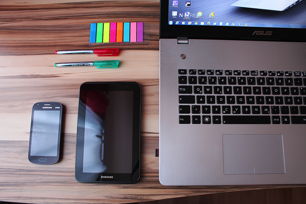 Desk and devices