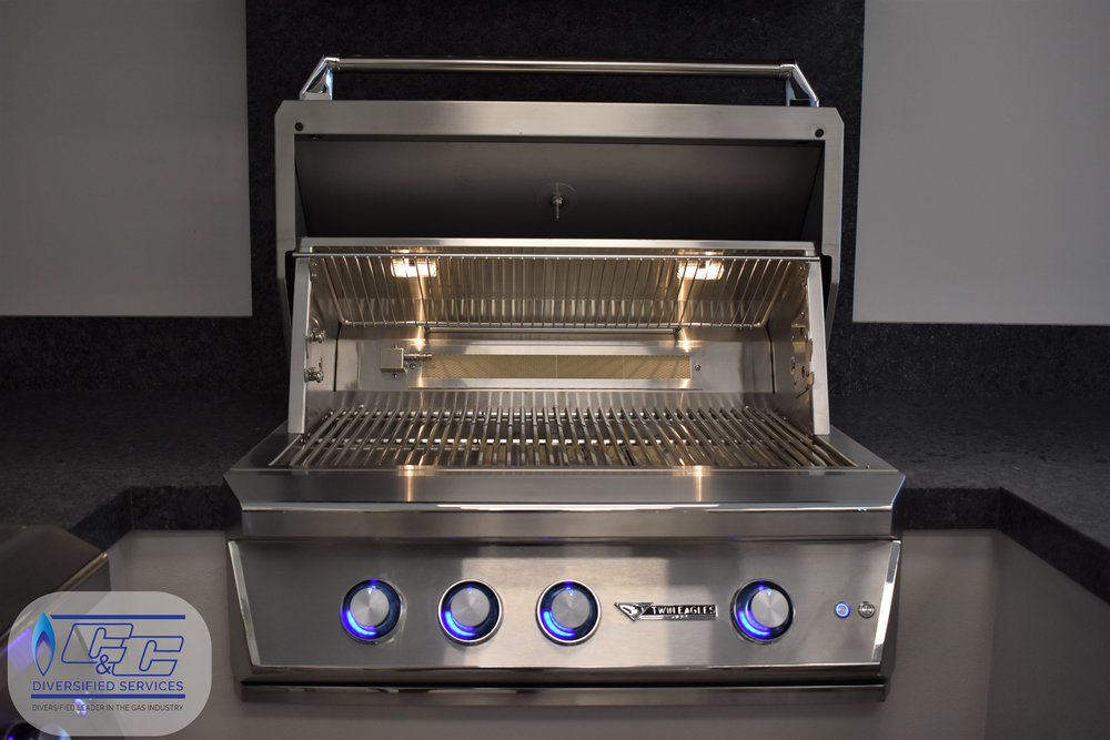 "36"" Twin Eagles Gas Grill with Infrared Rotisserie and Sear Zone"
