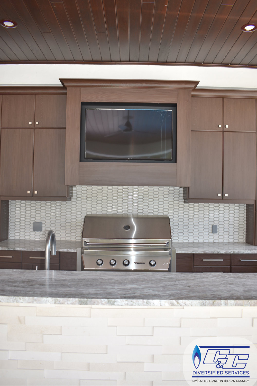 NatureKast Weatherproof Cabinetry - Custom Framed TV