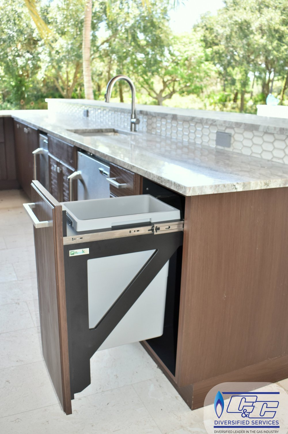 NatureKast Weatherproof Cabinetry - Waste Bin Cabinet