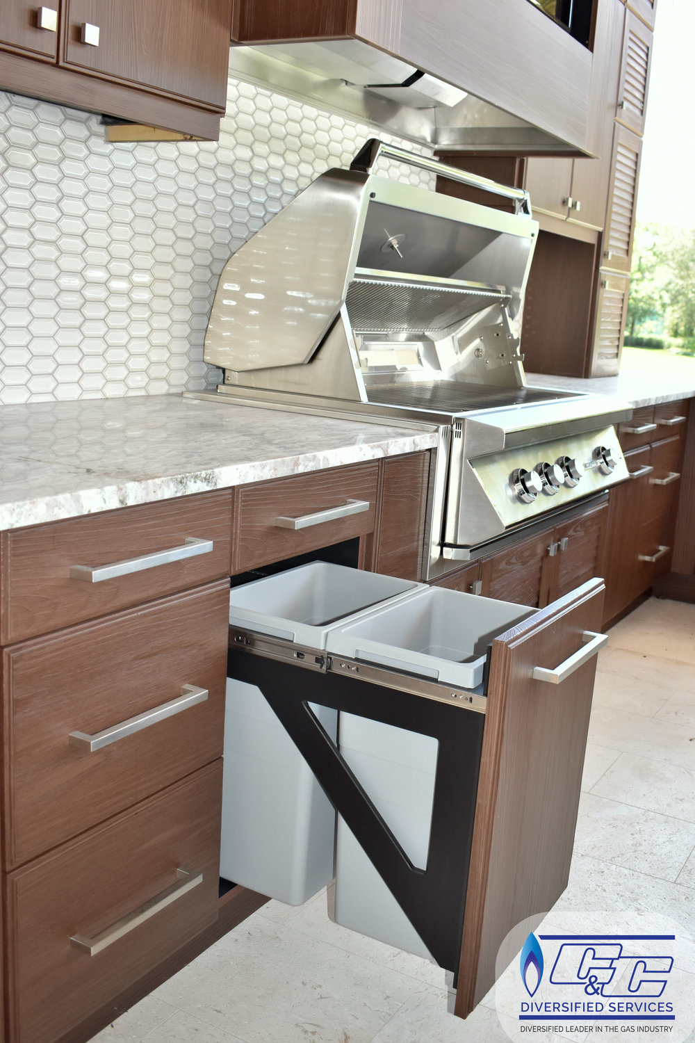 NatureKast Weatherproof Cabinetry - Double Waste Bin Cabinets