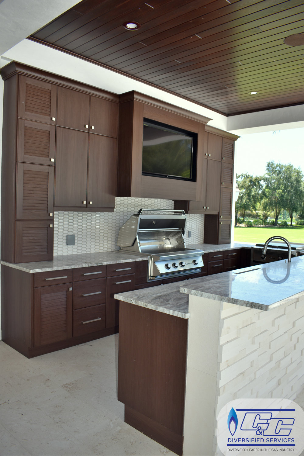 NatureKast Weatherproof Cabinetry in Espresso Finish