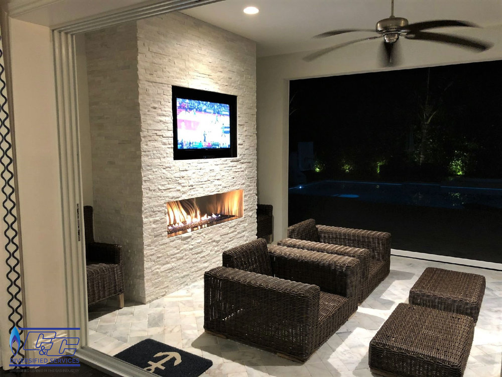 Outdoor Linear Gas Fireplace