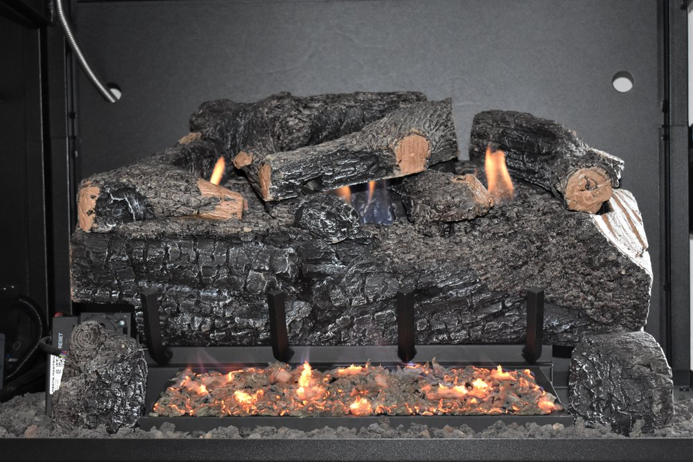 Vent Free Evening Frye Charred Log Set