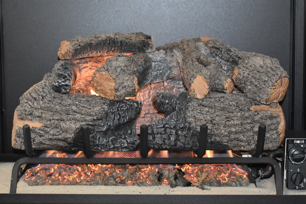 Vented Charred Oak Log Set