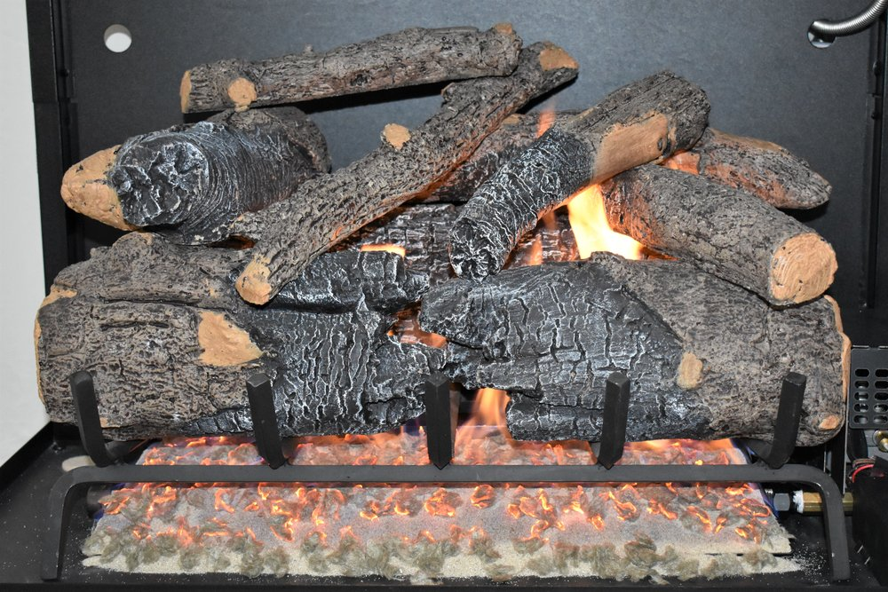 Vented Charred American Oak Log Set