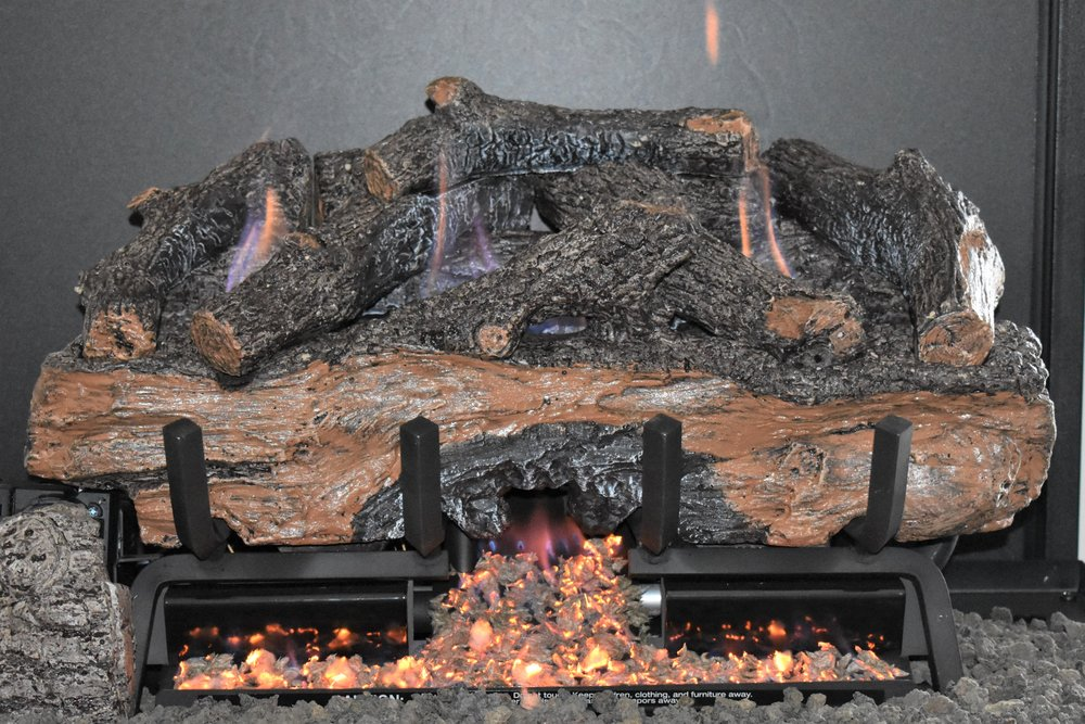 Vent Free Charred Aged Split Log Set