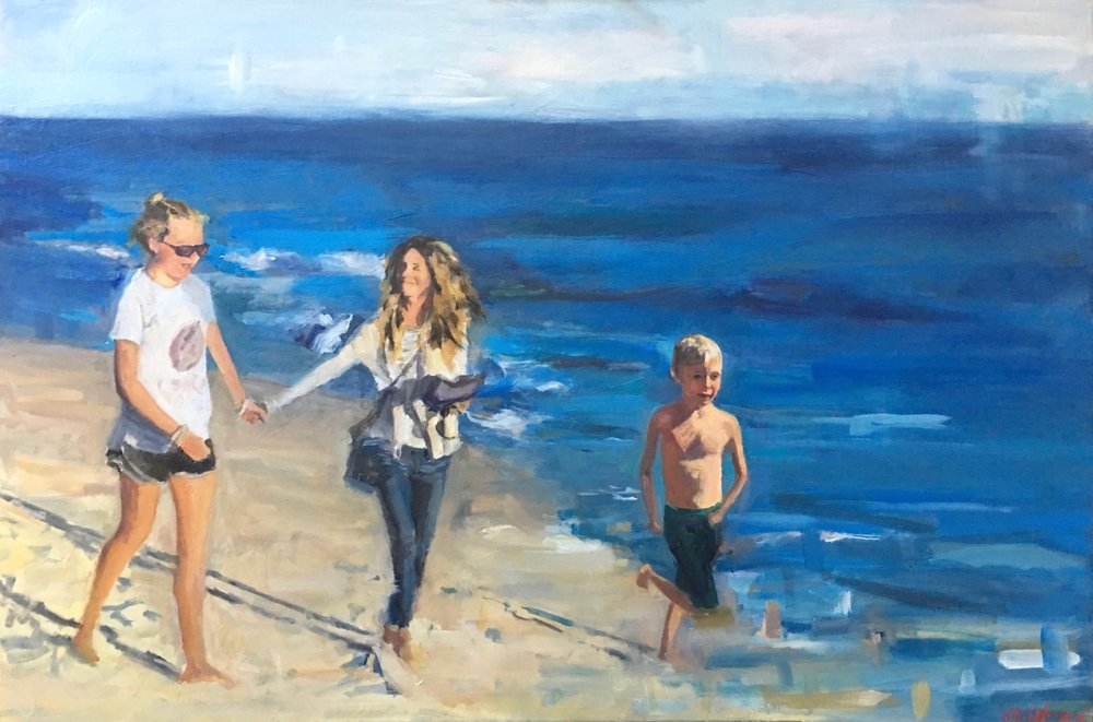 "Nantucket Stroll, Oil on Canvas, 20"" x 30"""