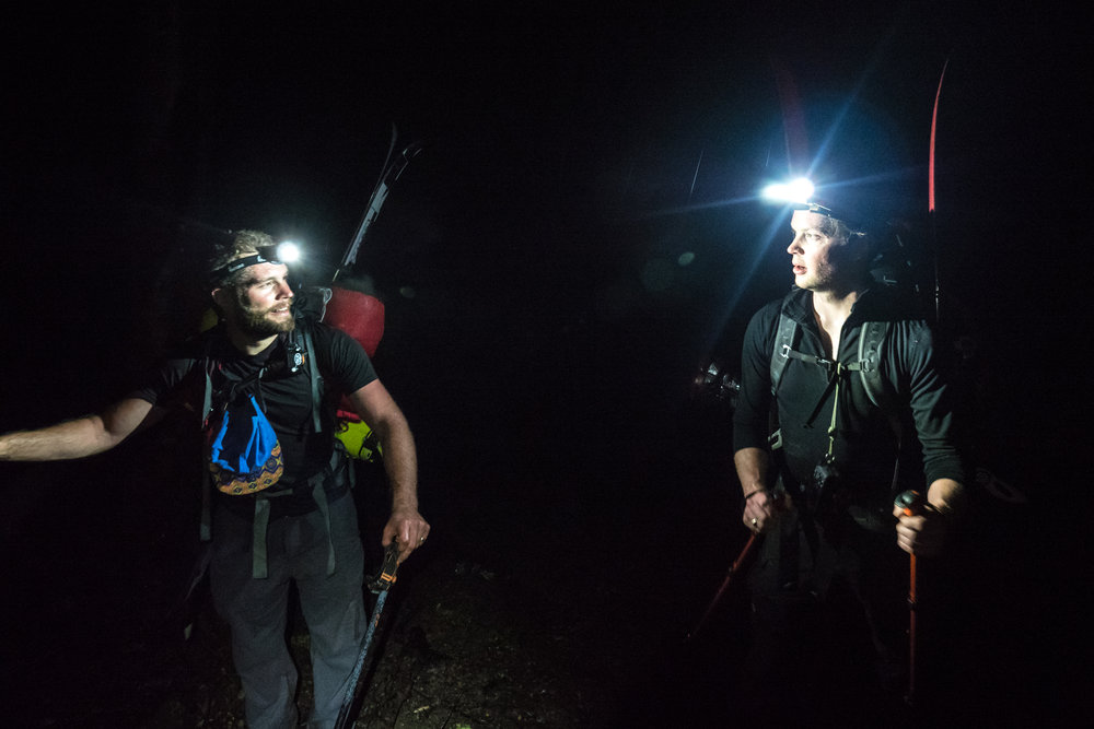 Hunter Markvoort and Cam Hardinge-Rooney basking in each other's headlamps.