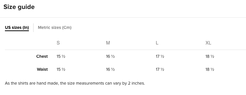 SIZE CHART - CROP TOP Runs small. Please measure. You may need to go a size or two.