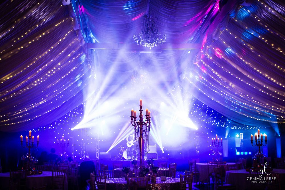 Intelligent lighting at Wrenbury Hall.  Photography by Gemma Leese.