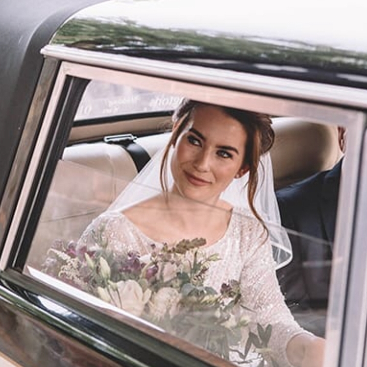 Photography: Claire Basiuk,Kim & Tony organised their own wedding transportation, with vintage in mind this was just gorgeous.