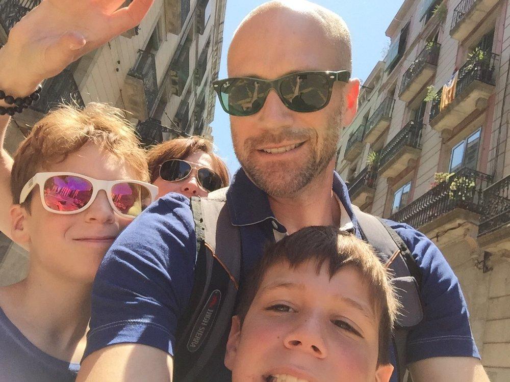 Family vacation to Barcelona.