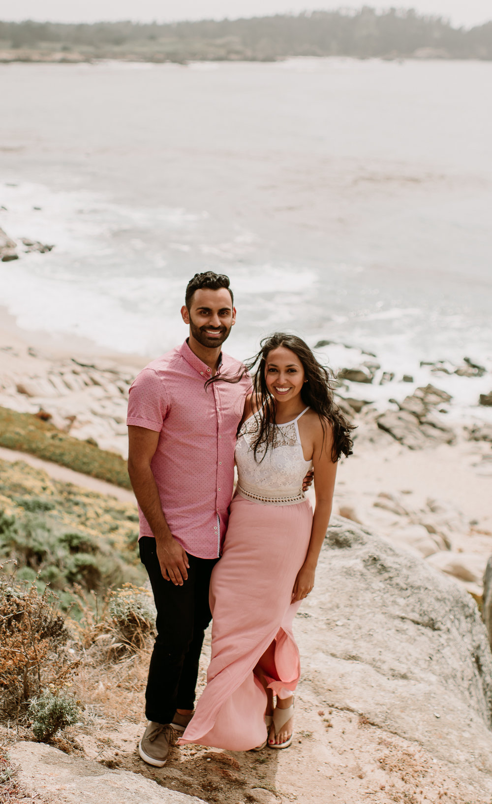 California Big Sur coast wedding photographer proposal