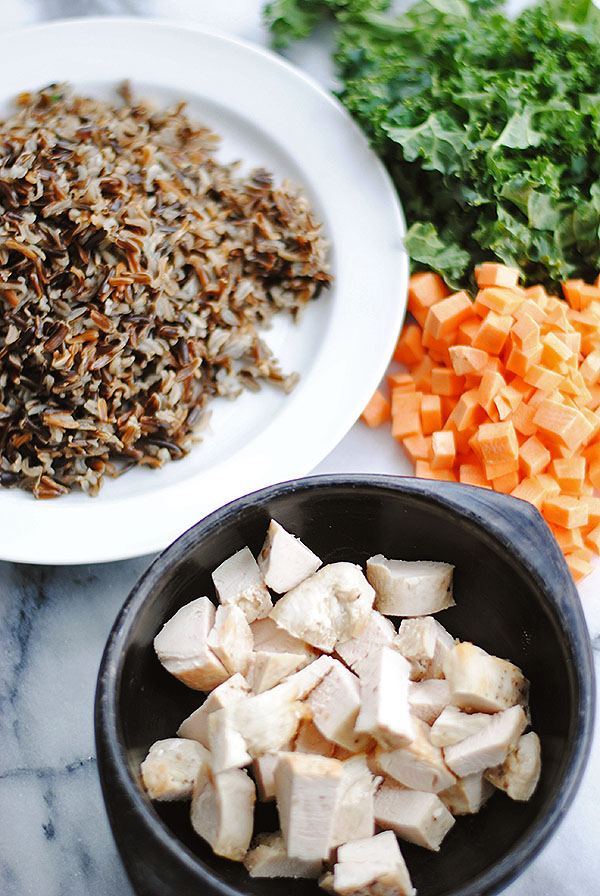 Chicken Fried Wild Rice Prepped | shemadeitshemight.com | Heather Bursch