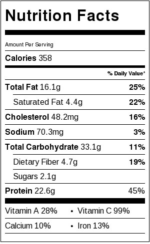 Chicken Fried Wild Rice Nutritional Facts