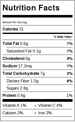 Nutritional Information for 1 cup cooked spaghetti squash
