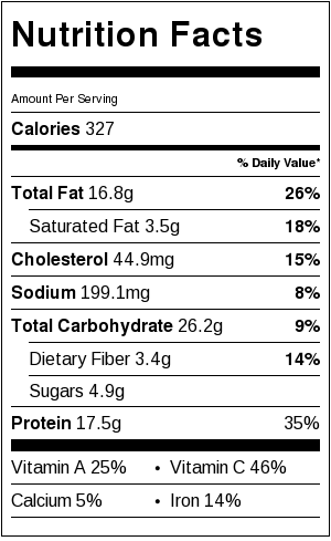 Nutritional Information for Asian Chicken and Quinoa Salad