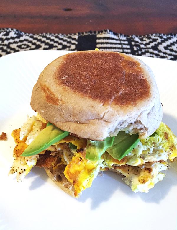 Leah's egg sandwich